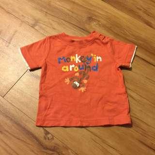 Mothercare 假兩件 T-shirt  3-6M