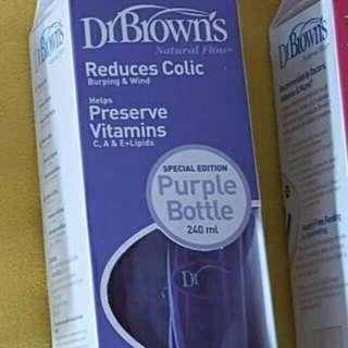 Dr Brown's 260ml Wide Neck Bottle In Purple