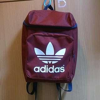 (保留)酒紅 Adidas 後背包