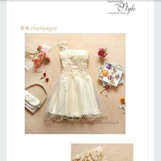 伴娘禮服 小禮服 新娘伴娘裙 表演洋裝 團體表演服