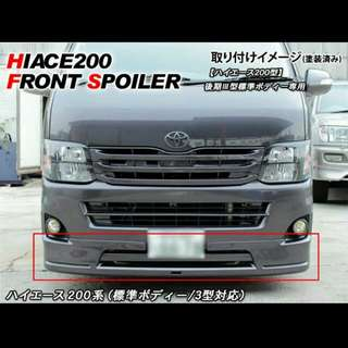 Front Lip for Euro 4 Hiace on Promo