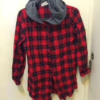 ❗️便宜賣❗️紅色 格紋 襯衫