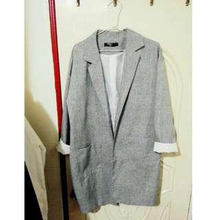 淺灰大衣外套 (含運)