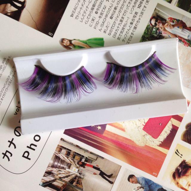 《50元均一》特殊造型假睫毛-紫羅蘭