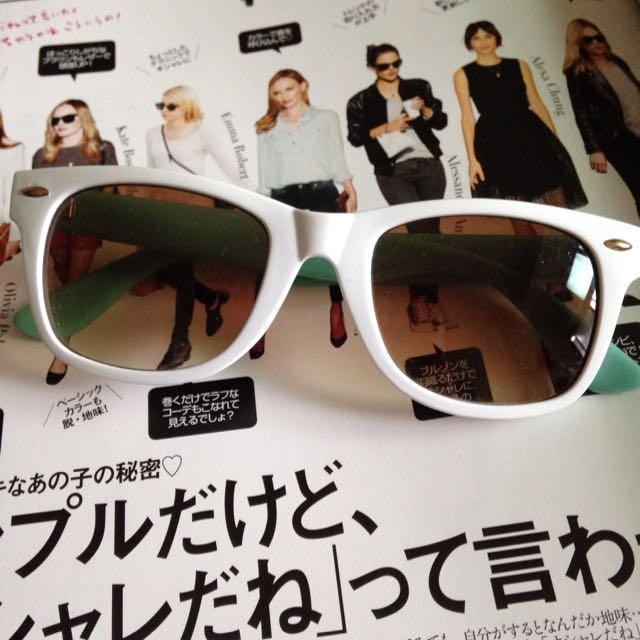 (保留)《50元均一》 復古純白太陽眼鏡😎