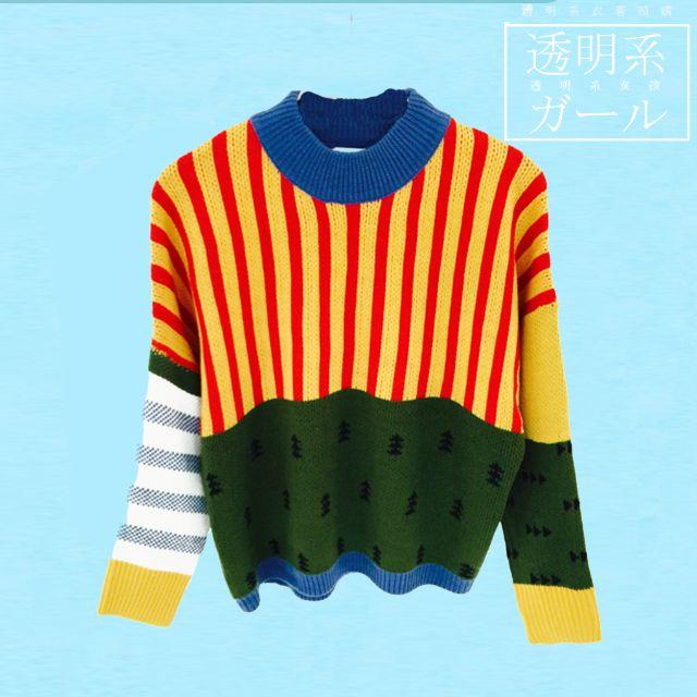 預🌼日系童趣拼接毛衣