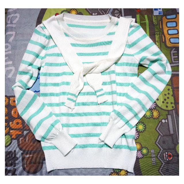 【女裝】粉綠色學生水手服造型秋冬上衣