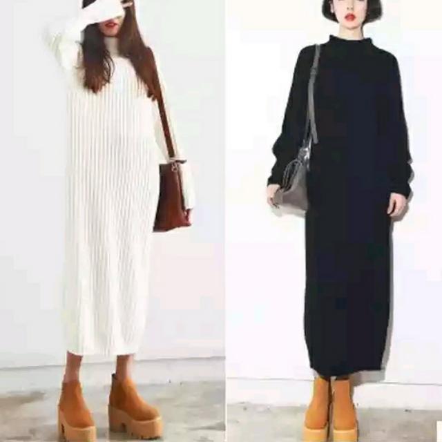 寬鬆針織長裙