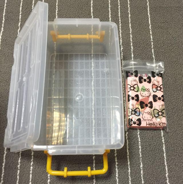 小型收納箱(含蓋)可愛筆記本、小熊維尼原子筆