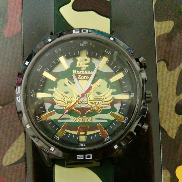 航海王(索隆)迷彩膠帶錶