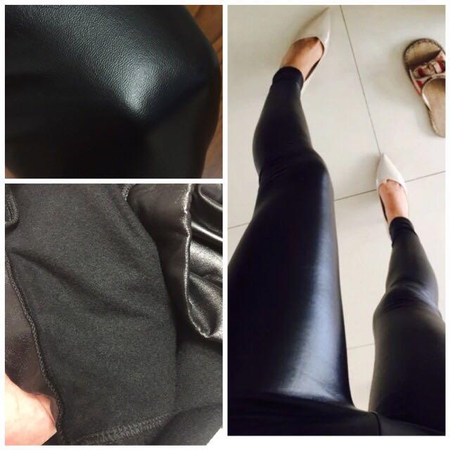 時尚顯瘦內刷毛皮褲  非常顯瘦喔!