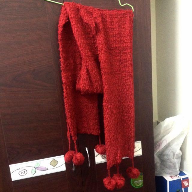 🎀大紅色圍巾 冬天必備