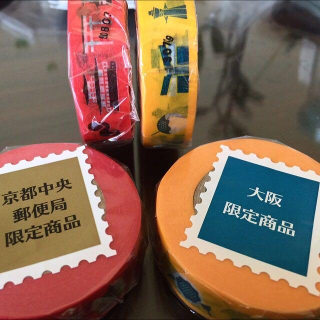 日本郵局限定紙膠帶 大阪、京都各ㄧ捲 特價200含郵