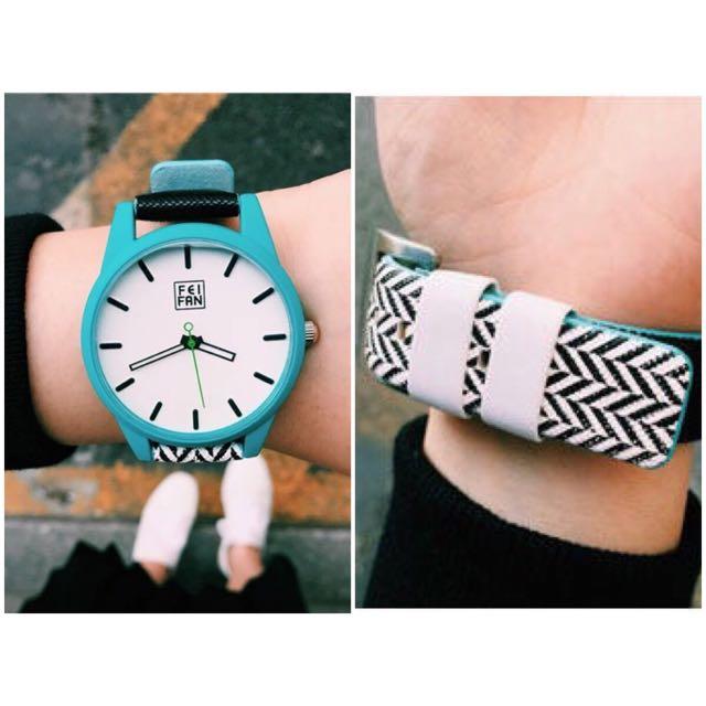普普風 對比撞色設計 大錶面 手錶 5 款
