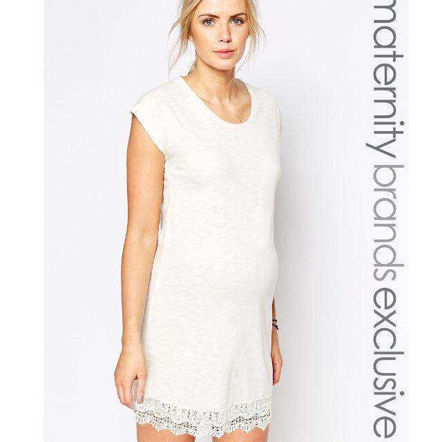 Asos Mamalicious Crochet Hem Jersey Maternity Dress Womens Fashion