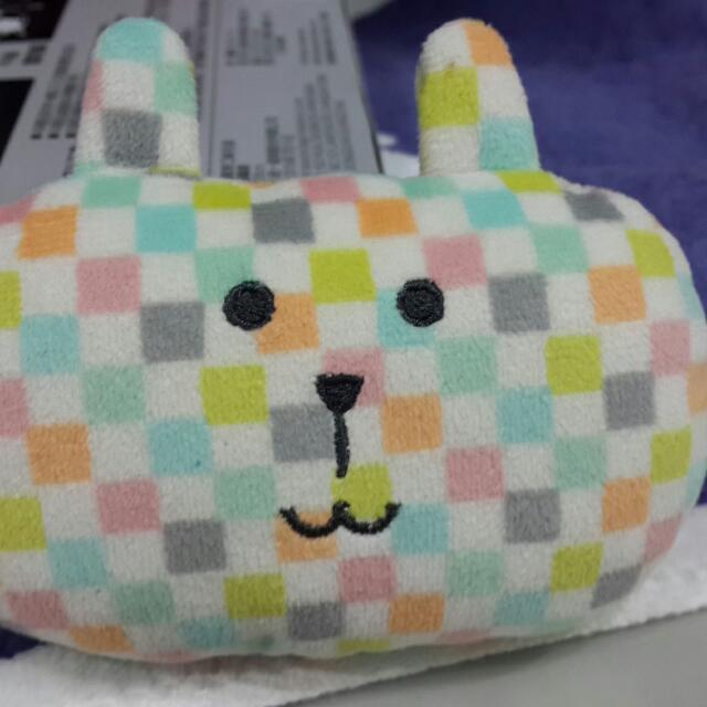 (保留)[二手]craftholic 宇宙人 格紋兔滑鼠靠墊