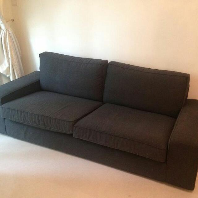 Reserved Ikea Kivik 3 Seater Sofa In Dark Grey Home Furniture On Carou
