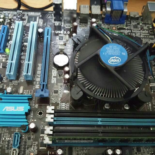 Intel i5-2400處理器+ASUS_P8B75-M主機板