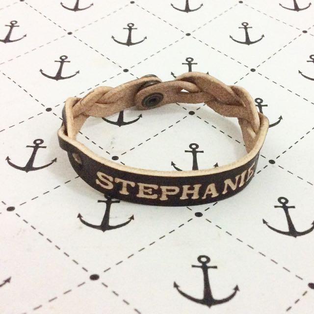 Leather Couple Bracelet Customize