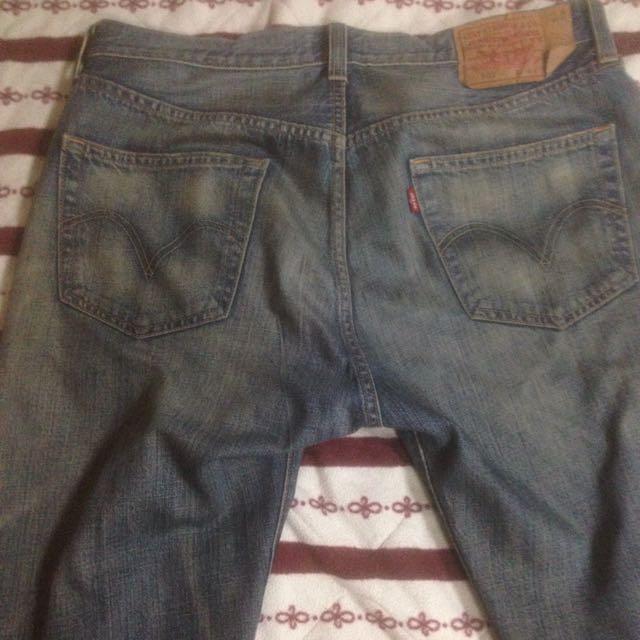 Levi's 501 藍水洗 牛仔褲 黃金w34