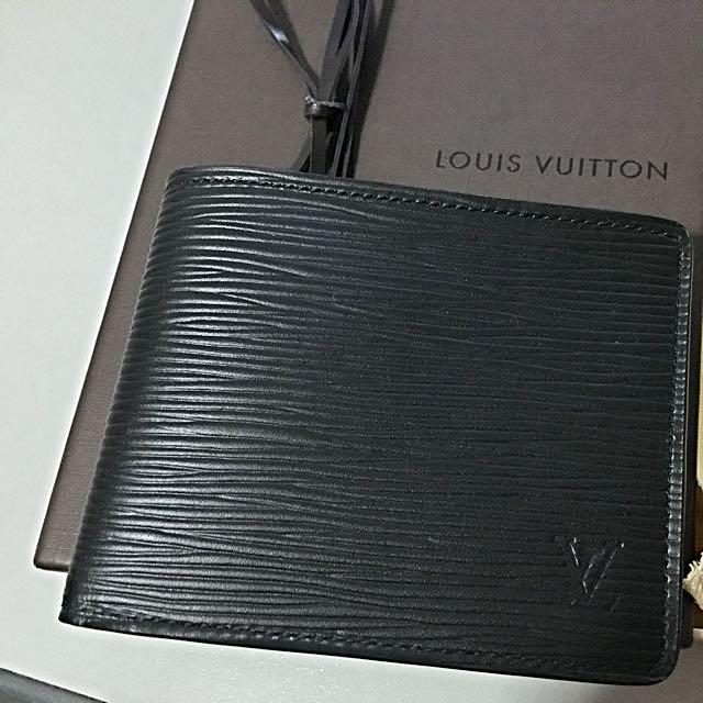 c3d07eea121 ... Louis Vuitton full leather slender wallet M60339 (Black)