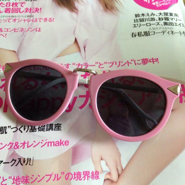 (保留)《50元均一》Moda Pink粉紅太陽眼鏡