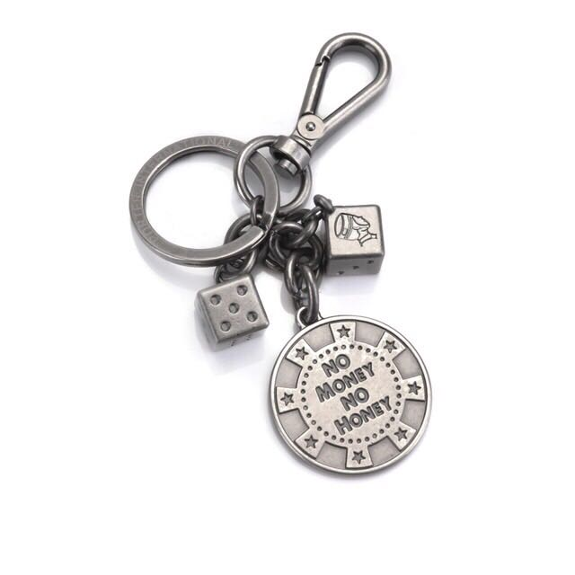 ‼️(含運)PORTER - 幸運方程式 Key chain 骰子造型鑰匙圈 - 復古銀