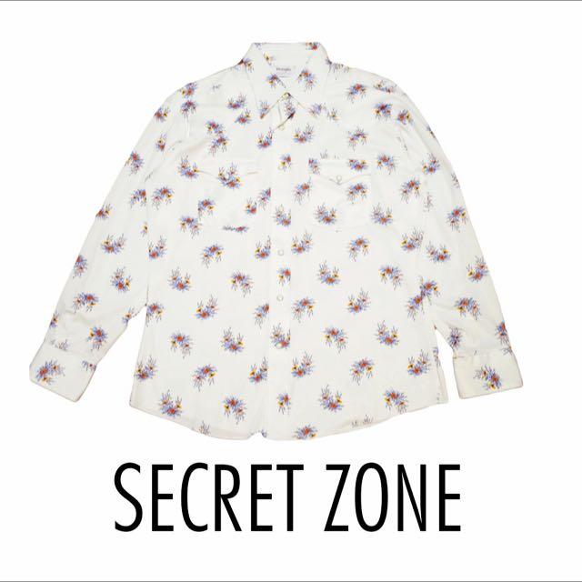 [古著]SECRET ZONE / Wrangler 🇺🇸美式西部花花襯衫