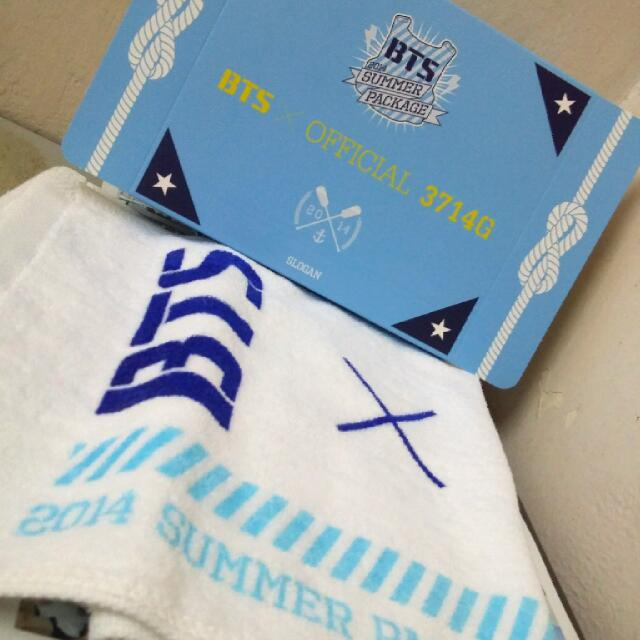 [ULTRA RARE AND LIMITED] BTS SUMMER PACKAGE 2014 SLOGAN TOWEL
