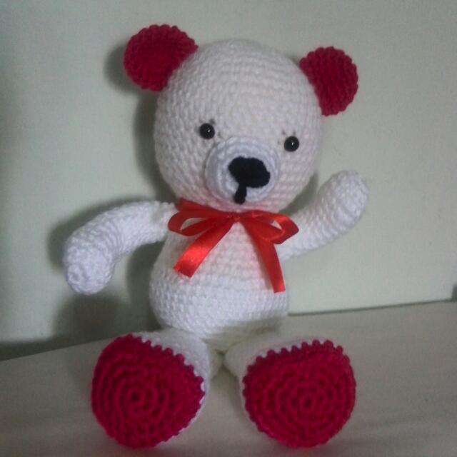 VALENTINE  TADDY BEAR CROCHET