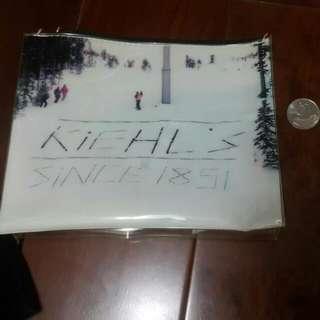 Kiehl's 化妝包 收納包 旅行包 小包包 拉鍊 防水 方便旅行使用 適合裝衛浴用品還有保養品
