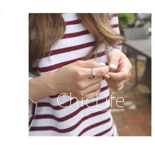 💍韓國925純銀復古單結戒指