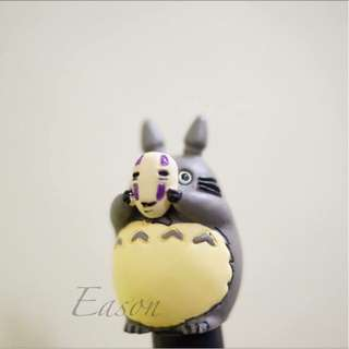 尹house-現貨-面具龍貓 萬聖節 無臉男面具龍貓 擺飾 微景觀小物  魚缸擺飾 玩具公仔
