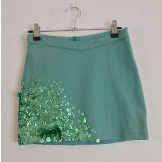 Aje sequin skirt, size 6, RRP $390