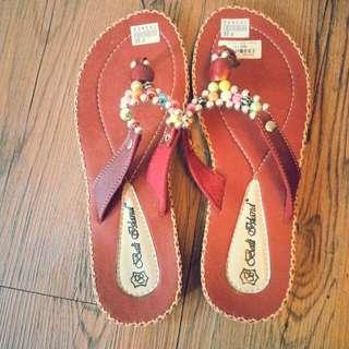 復古拖鞋(巴里島購入)