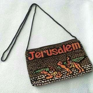 BNIP Jerusalem Sling Bag with beads