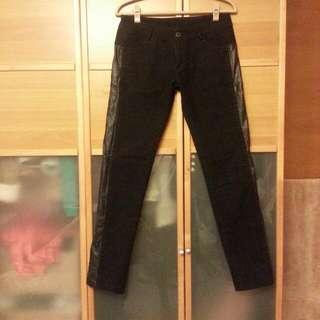 🐣 黑色絨布顯瘦長褲 🐣