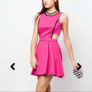 Neon Side Cut Out Dress By Zalora