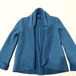 降價♦️♦️Giordano Ladies土耳其藍短大衣外套
