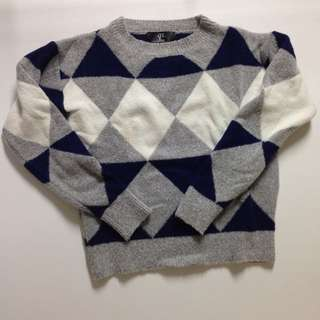 降價✨幾何針織衫✨