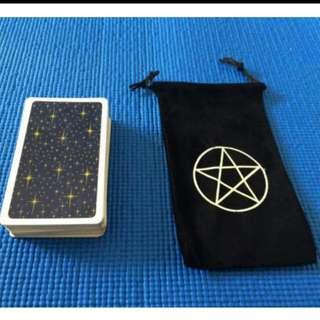 Tarot Card Pouch. Black Or Blue. Velvet