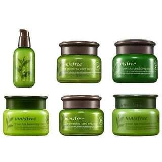 韓國 innisfree 綠茶籽系列 明星商品 精華液 保濕 眼霜 面霜
