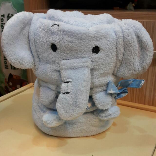 全新超可愛大象毯子