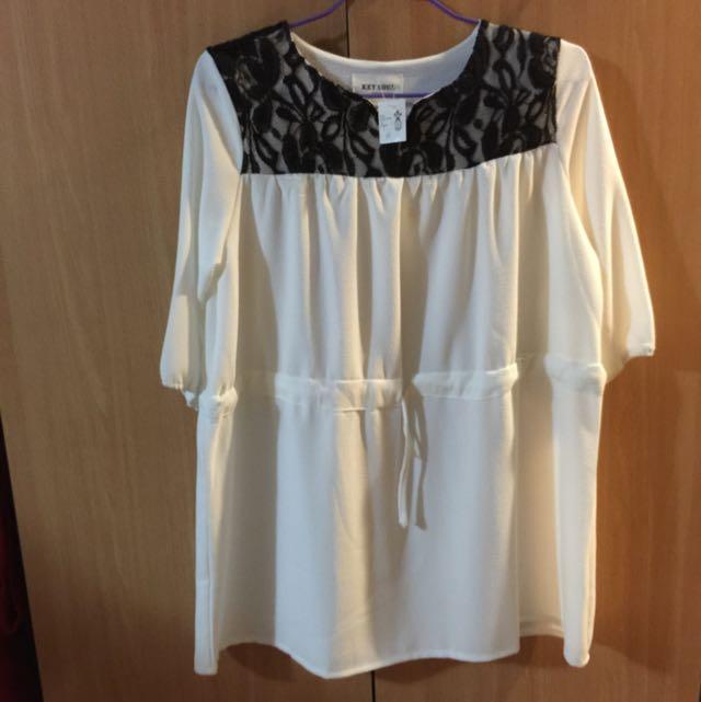 (全新)白色洋裝(含運)