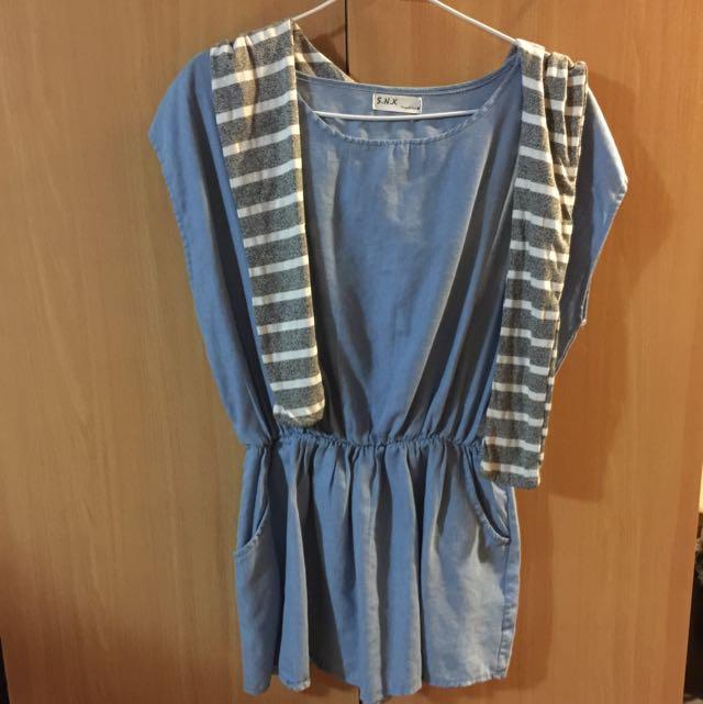 藍色洋裝(含運)