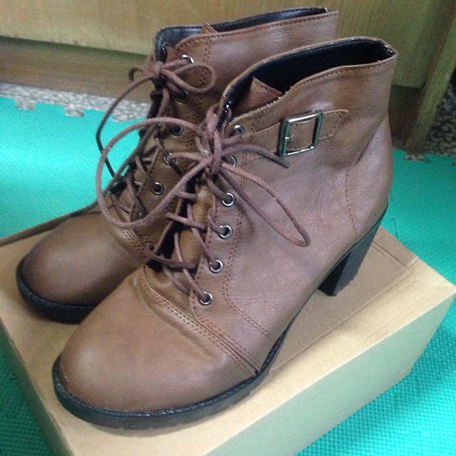 騎士風格厚底短靴(37號/23.5號)