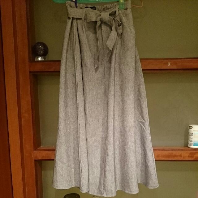 氣質綁帶長裙