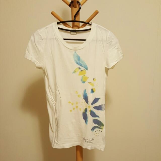 A&F 女大人(M)白色T恤 - 二手