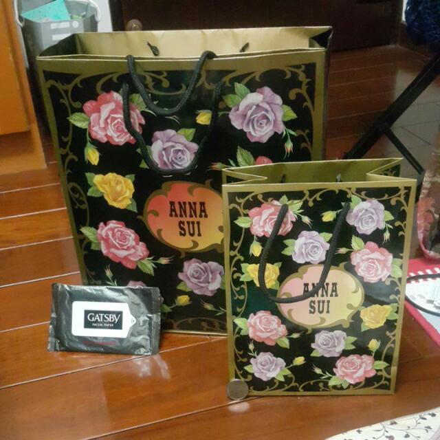 Anna Sui 專櫃 精品 正版 紙袋 大的有兩個