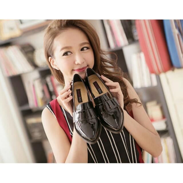 Ann's 韓系粗跟紳士休閒便鞋